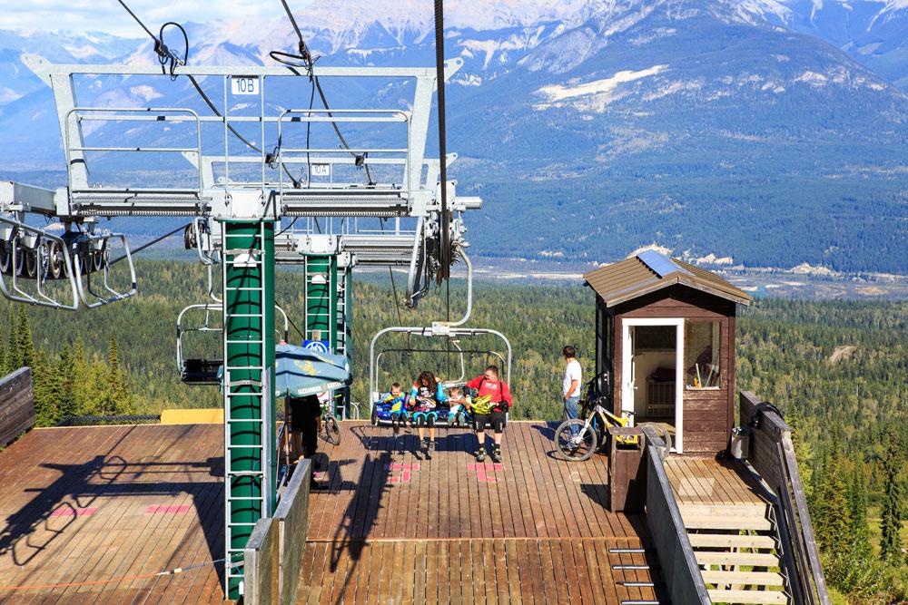 Mountain Biking at Kicking Horse Mountain Resort in Golden. Photo: Kootenay Rockies Tourism