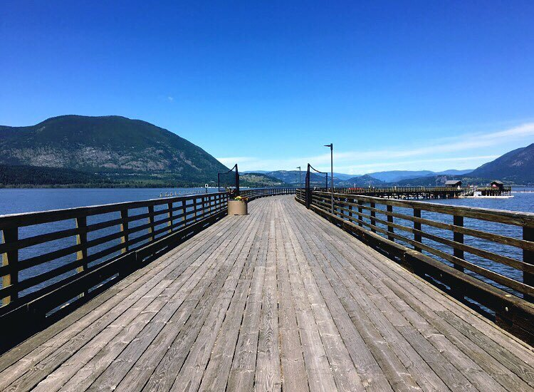 The dock in Salmon Arm.