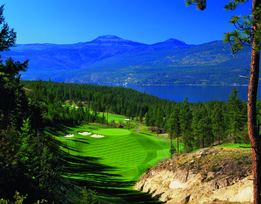 The view from Predator Ridge Golf Resort in Vernon.
