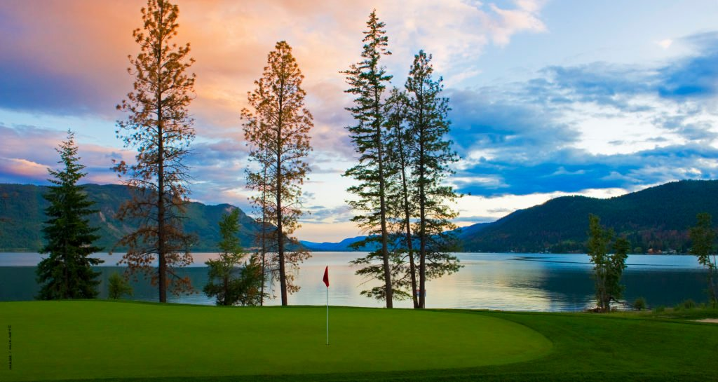 A sunset view at Talking Rock Golf Course in the Shushwap.