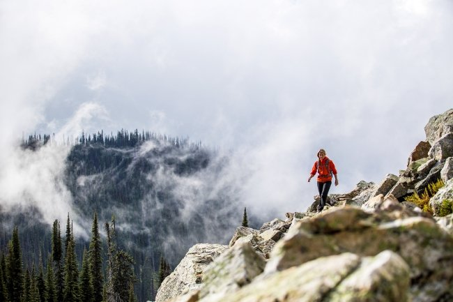 Hiking in Mount Revelstoke National Park.