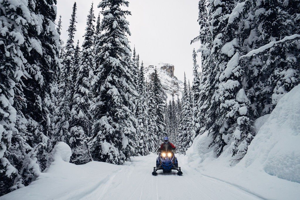 Snowmobiling with Toby Creek Adventures in Invermere. Photo: @lebackpacker via Instagram