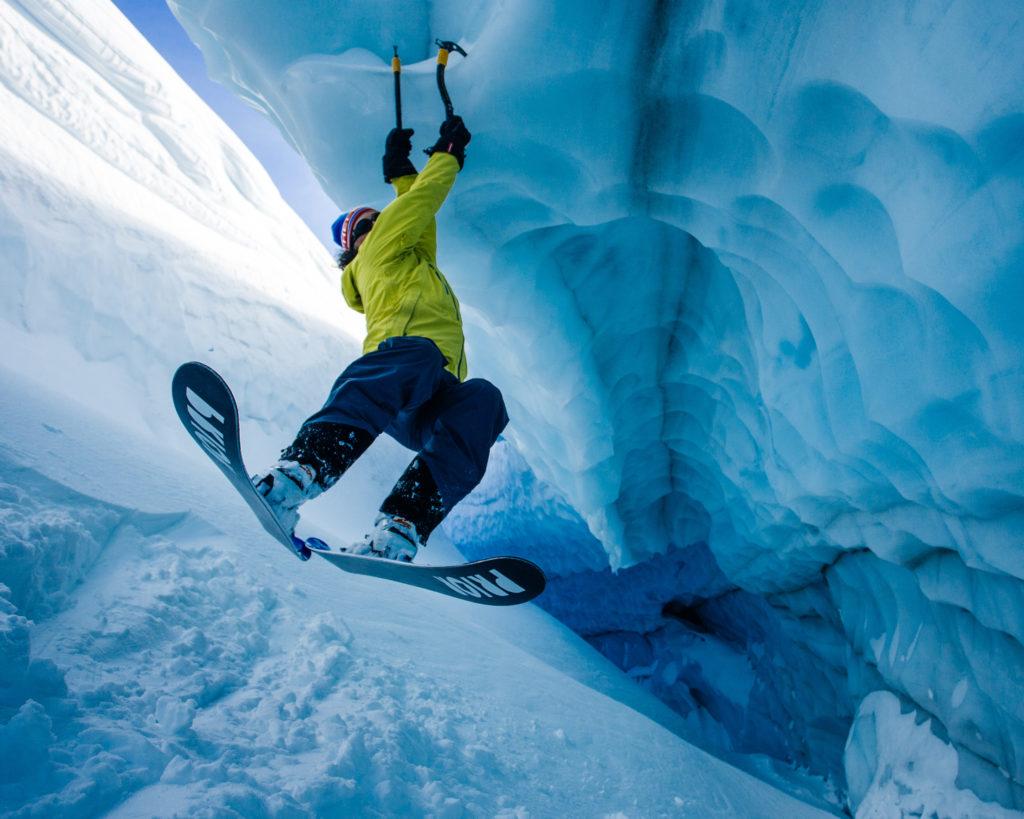 Ice climbing, Blackomb Mountain., Whistler. Photo: @michaeloverbeck