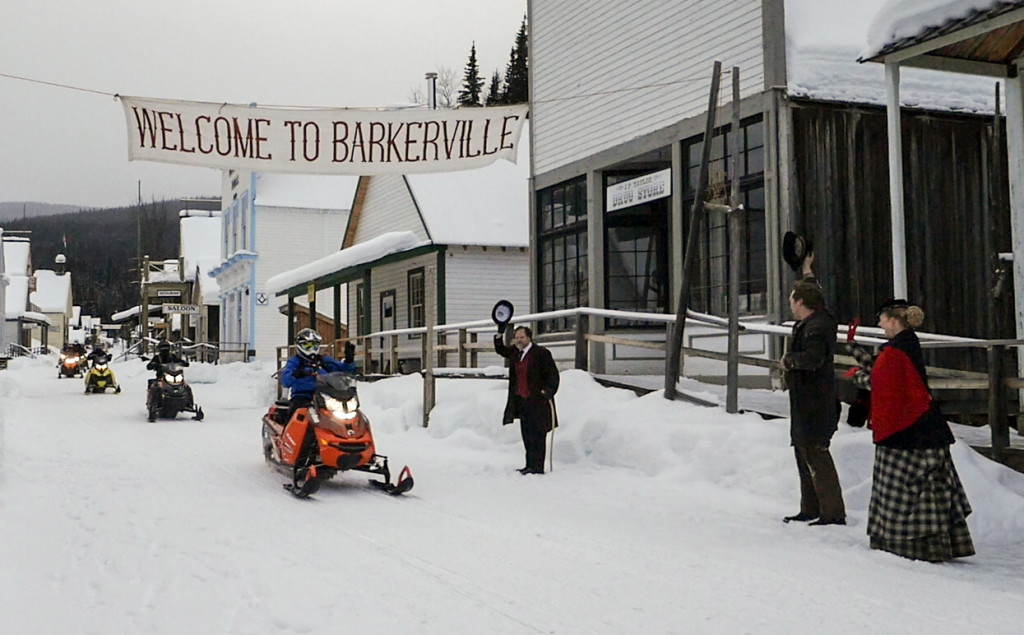 Snowmobiling into historic Barkerville