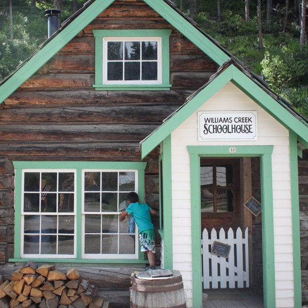 The Williams Creek Schoolhouse in Barkerville