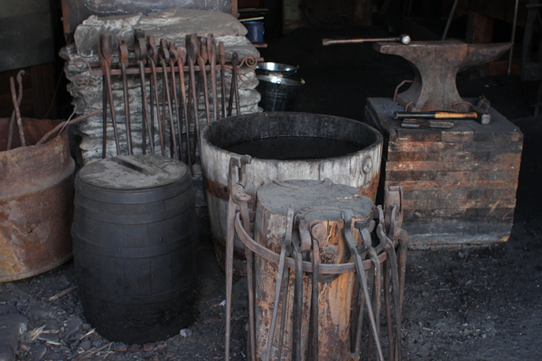 Scenes from the blacksmith shop