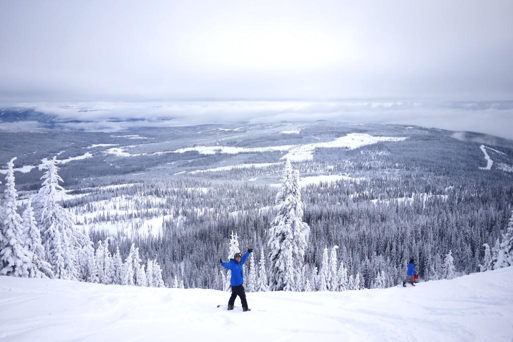 A skier taking in the views at Sun Peaks Resort near Kamloops. Photo: @erinireland