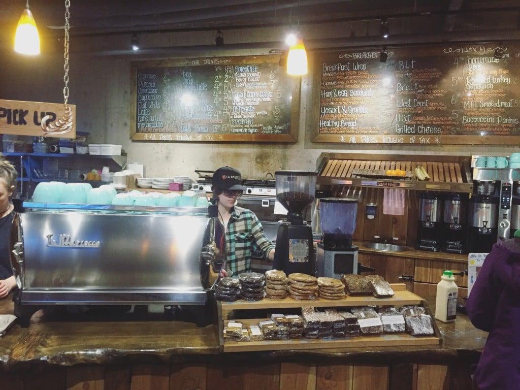Coffee lovers fueling up at La Baguette in Revelstoke. Photo: @erinireland