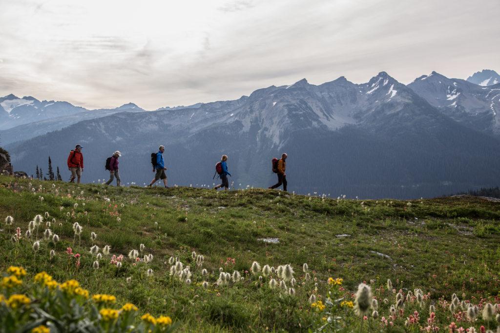 Panoramic views while heli-hiking.