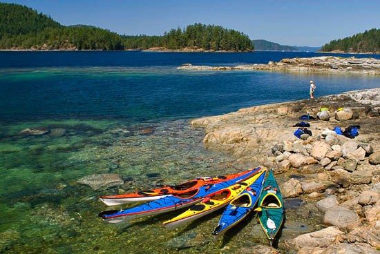 Sea kayaking through Desolation Sound
