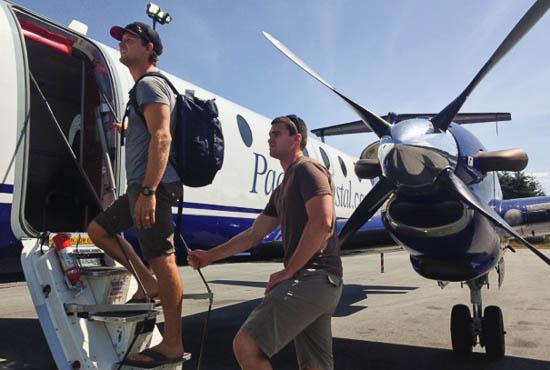 Prop plane ride to Desolation Sound.