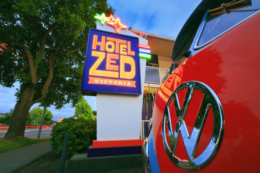 Vintage affordability at Hotel Zed in Victoria.
