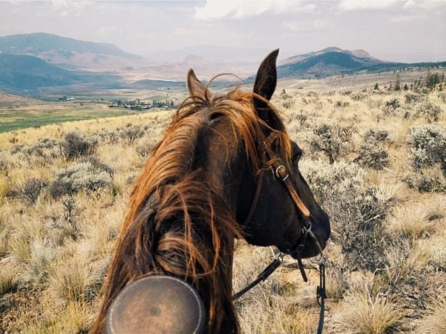 View from the saddle at Sundance Ranch.