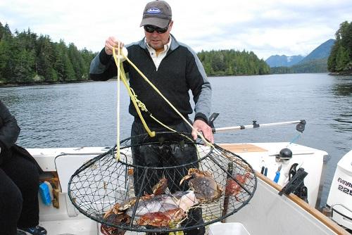 Crabbing with Tofino Sport Fishing.