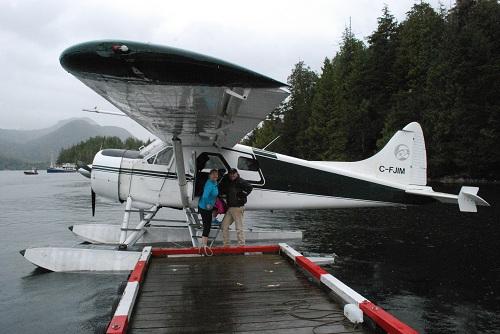 The de Havilland Beaver floatplane in Tofino, BC.