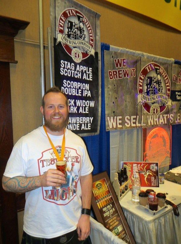 Tin Whistle Brewing's Jeff Tod at the 2013 Okanagan Fest-of-Ale.