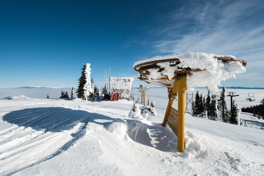 The remains of the resort's second lift system. The original lift shack is now the patrol hut for the resort.