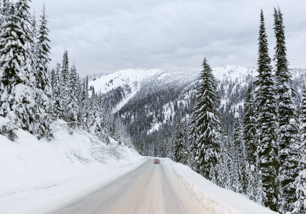 Driving back down to Nelson from Whitewater Ski Resort.