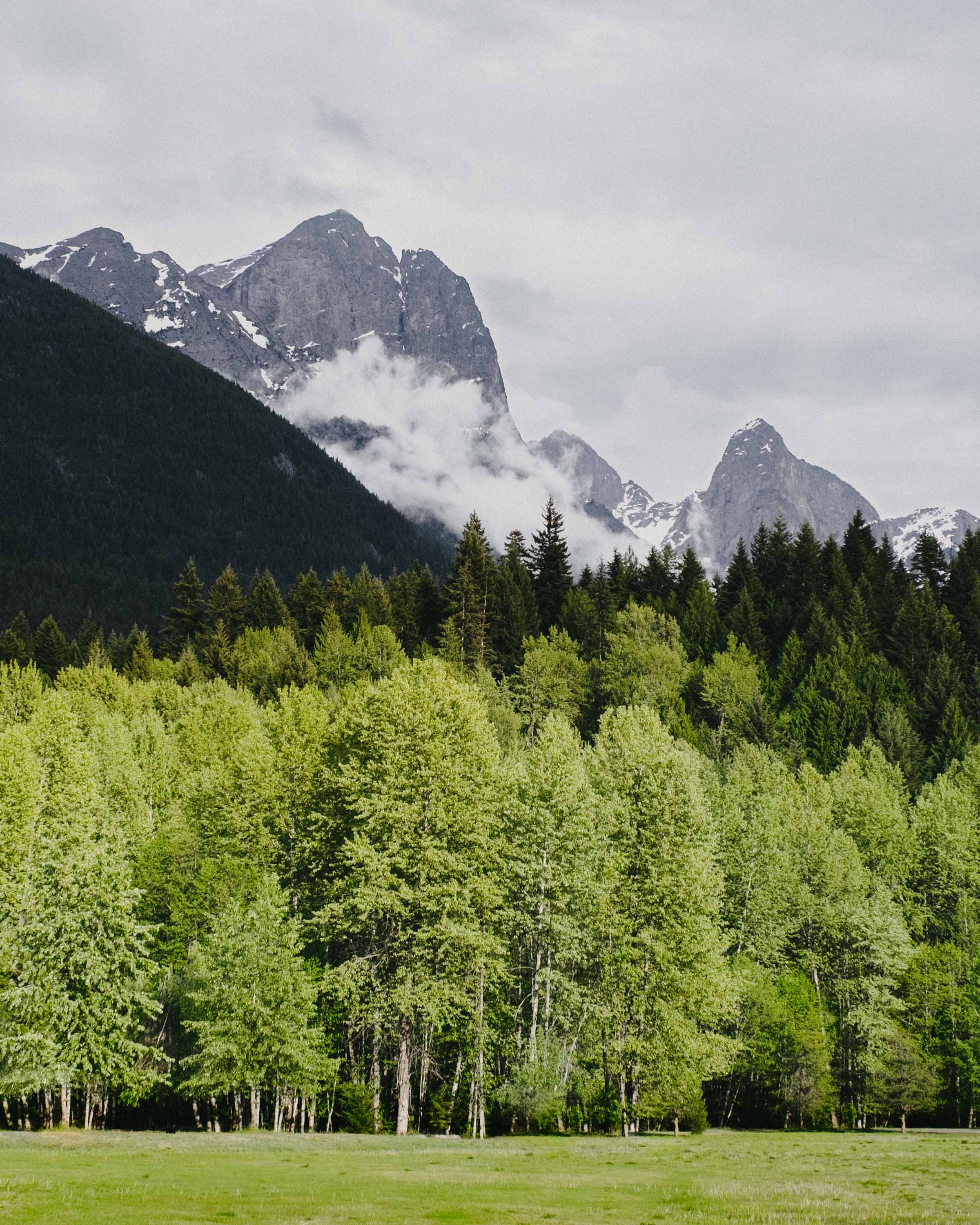 View of Hozomeen Mountain from Skagit Valley Provincial Park