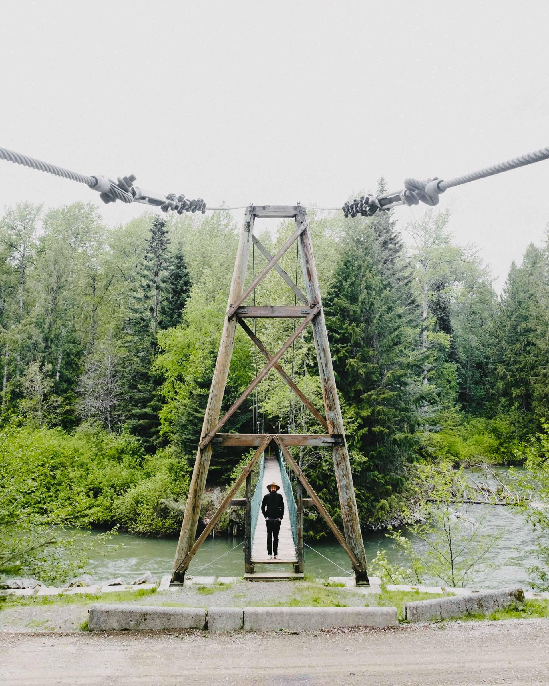 Suspension bridge in Skagit Valley Provincial Park