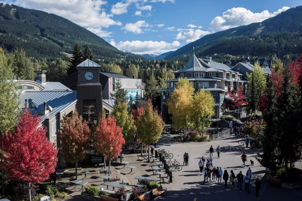 Whistler Village in the fall.