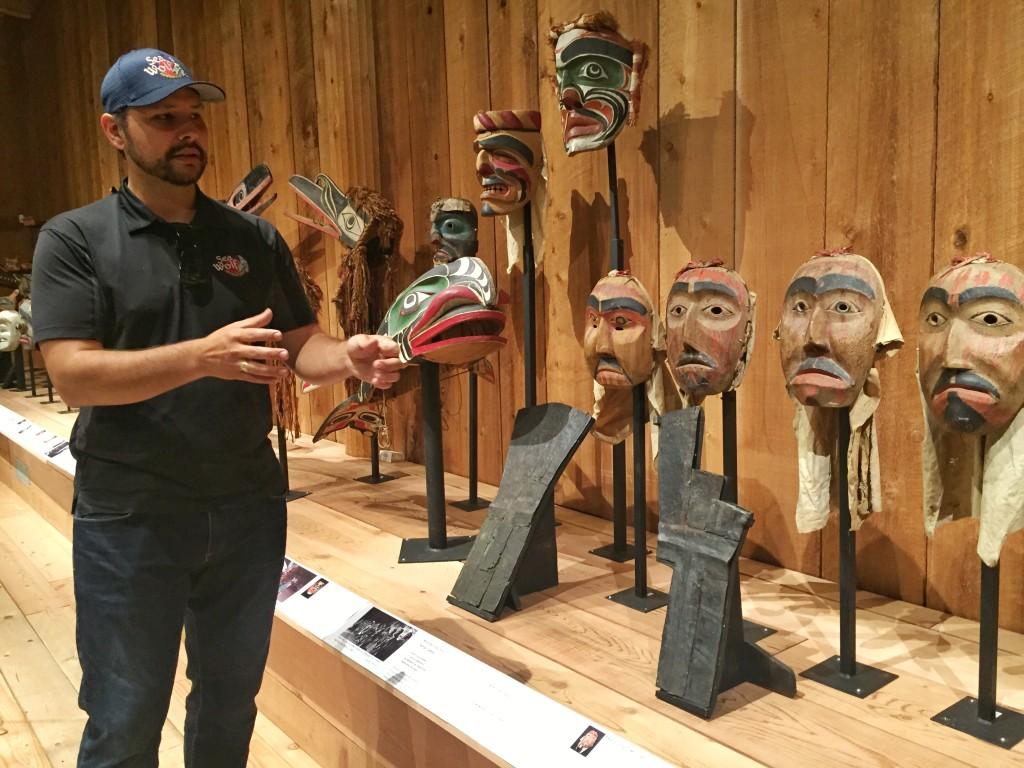 Mike Willie at the U'mista Cultural Centre in Alert Bay. Photo: Josie Heisig