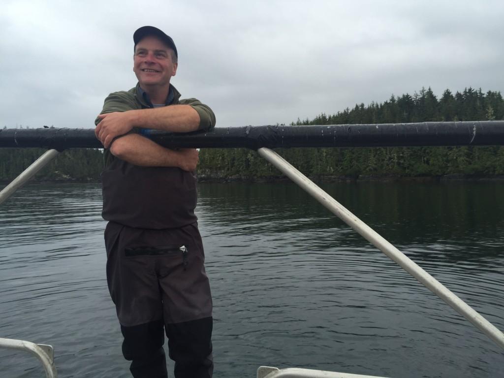 Andrew Jones of Kingfisher Wilderness Adventures near Telegraph Cove. Photo: Josie Heisig