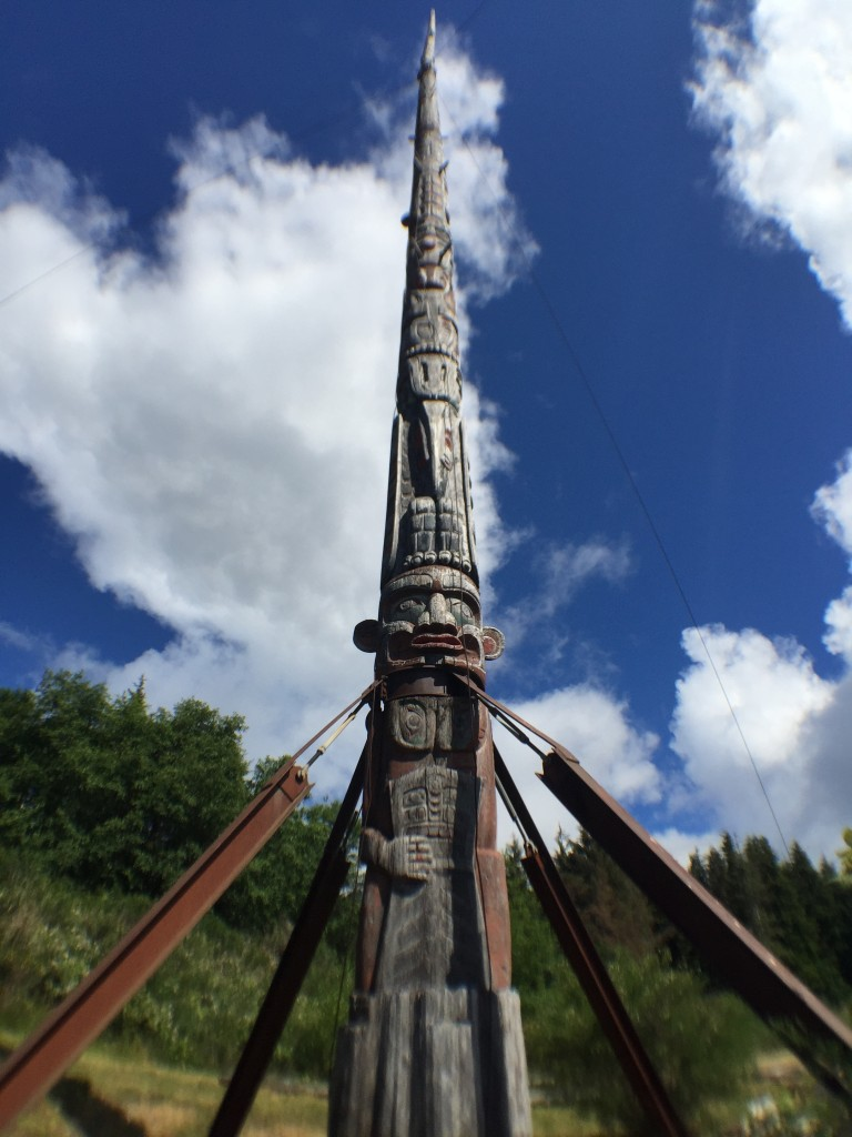 The tallest totem in the world in Alert Bay. Photo: Josie Heisig