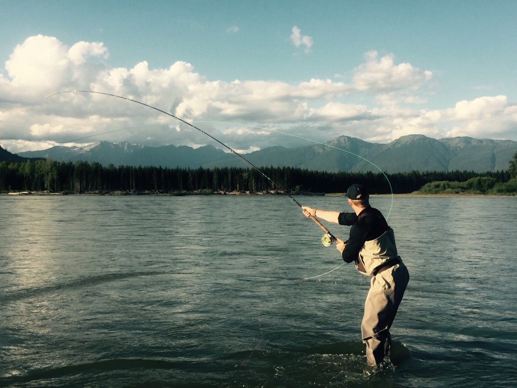 Andre makes a cast near Smithers, BC.