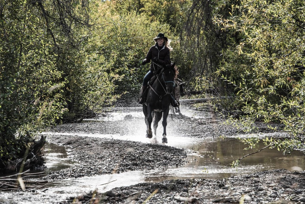 Tiffany on Horseback in the Chilcotin Region. Photo: Geoff Moore