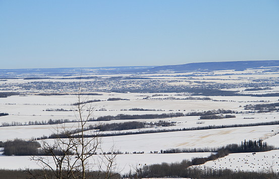 A view of Dawson Creek from the Bear Mountain Wind Park. Photo: Murray Lundberg
