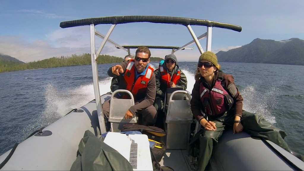 On a zodiac tour with Moresby Explorers in Haida Gwaii.