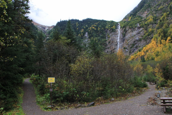 Trails and waterfalls at Twin Falls Recreation Site, Smithers, BC