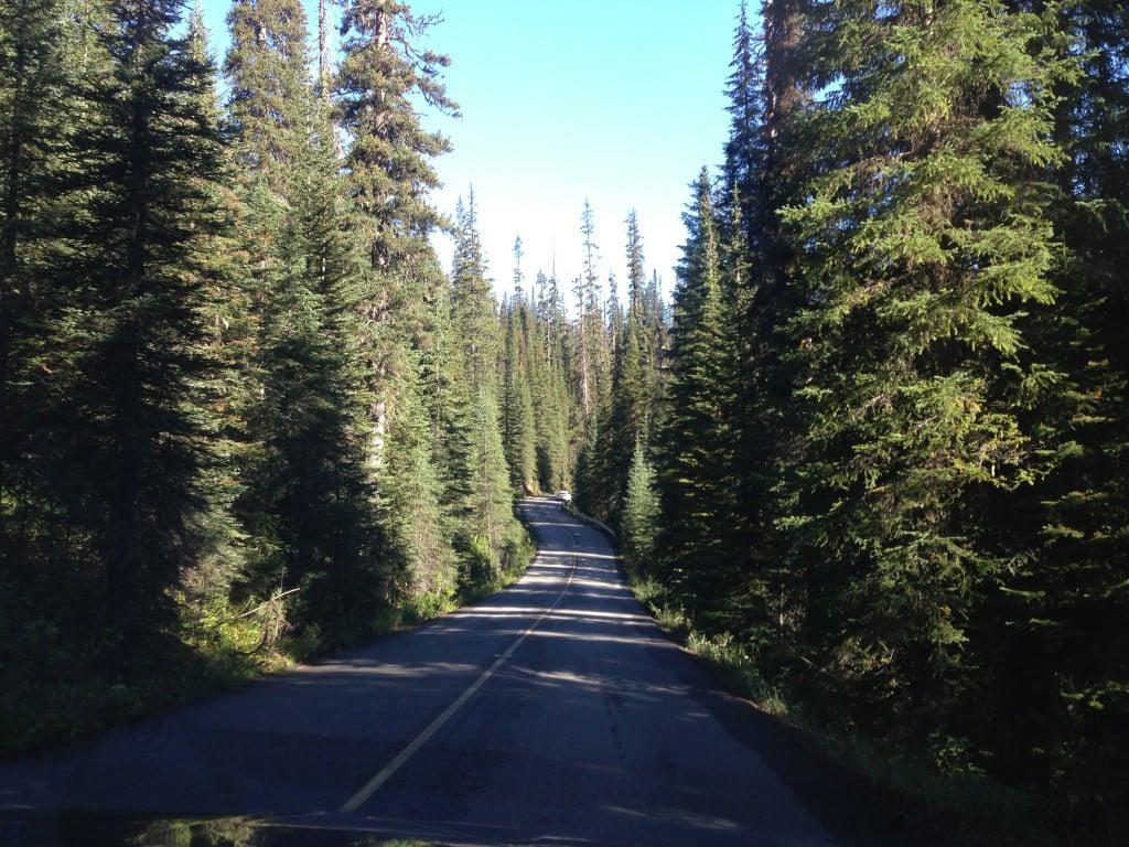 Driving through Yoho National Park, BC