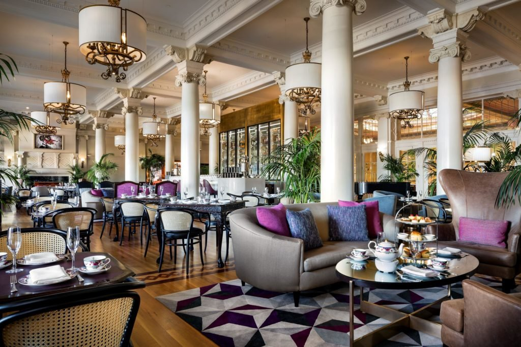 The lobby lounge at the Fairmont Empress in Victoria is a lovely setting for tea.