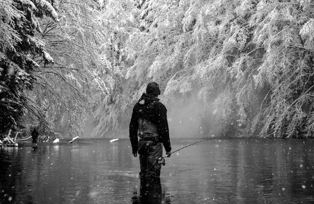 Winter fishing in Haida Gwaii. Photo: @adriennecomeau