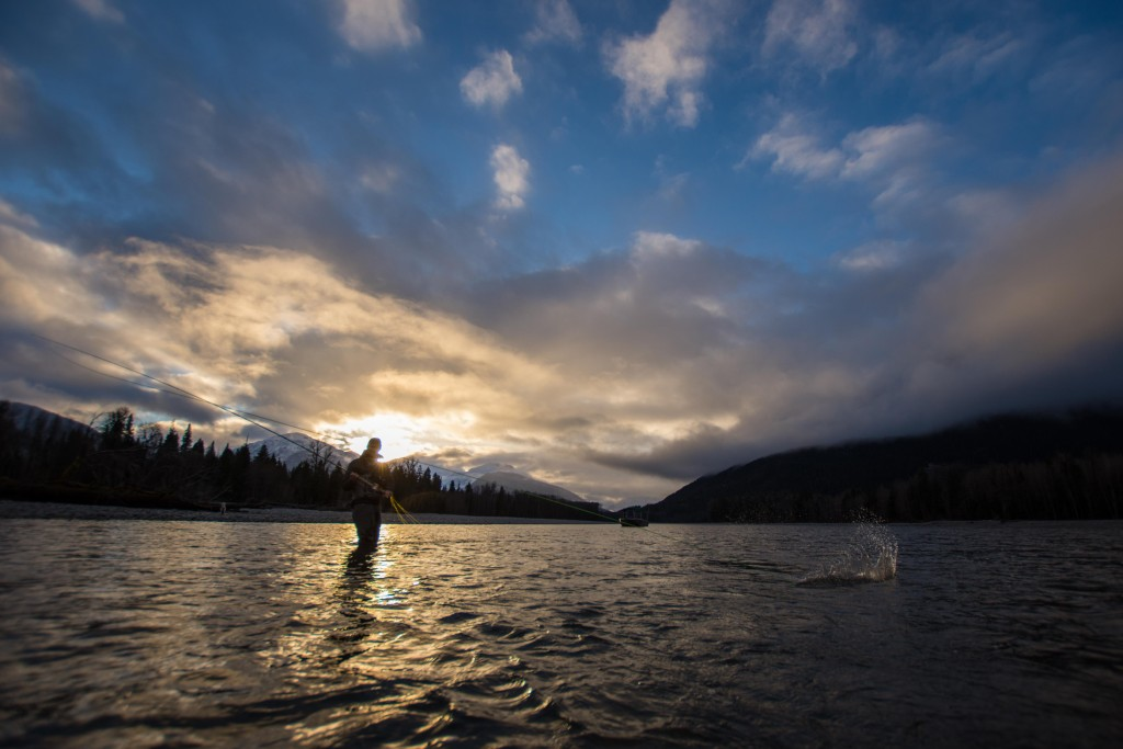 A fall sunset on the water in Northern BC. Photo: @adriennecomeau