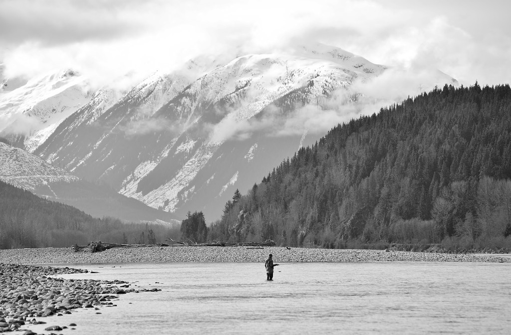 Fishing amongst the beautiful scenery of Northern BC. Photo: @adriennecomeau via Instagram