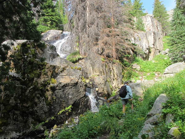 Waterfalls reward hikers in Cathedral Mountain Park