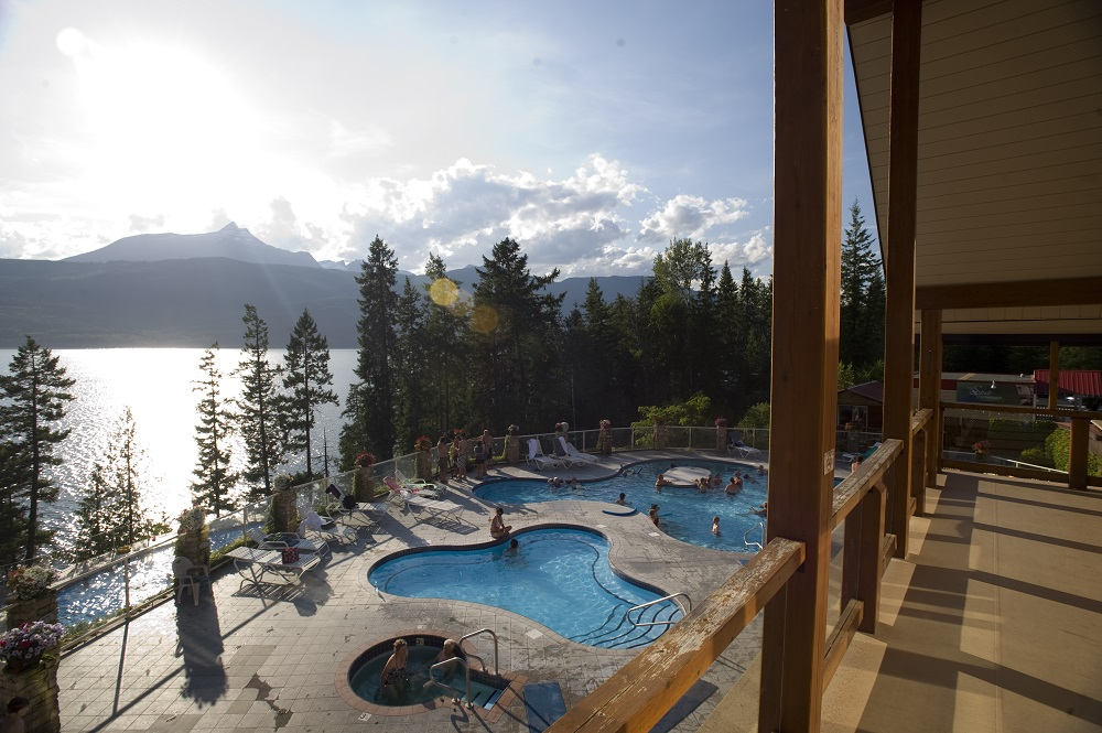 Halcyon Hot Springs near Nakusp.