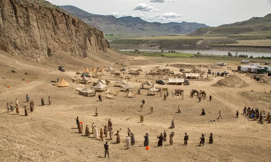 A desolate landscape in British Columbia that was transformed into an Egyptian desert for the filming of Night at the Museum.