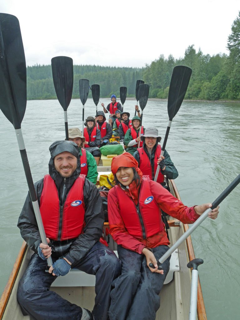 The group in the voyageur canoe.