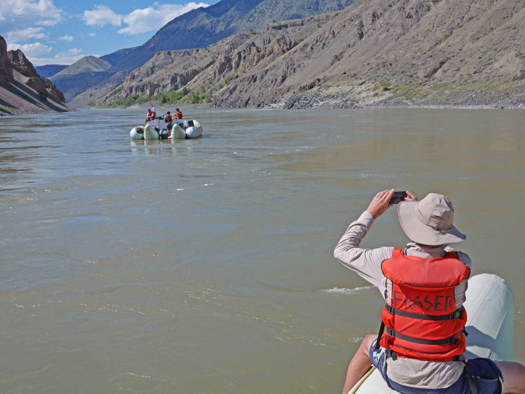 Rafting a section of the lower Fraser River.