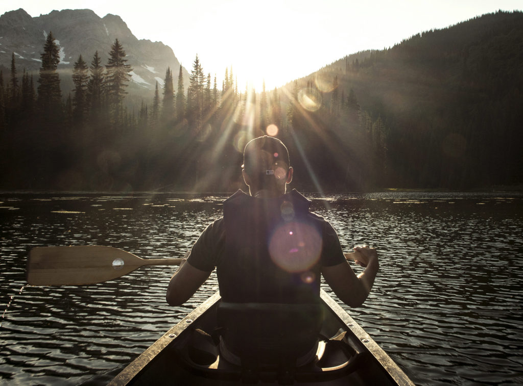Canoeing near Fernie, BC.