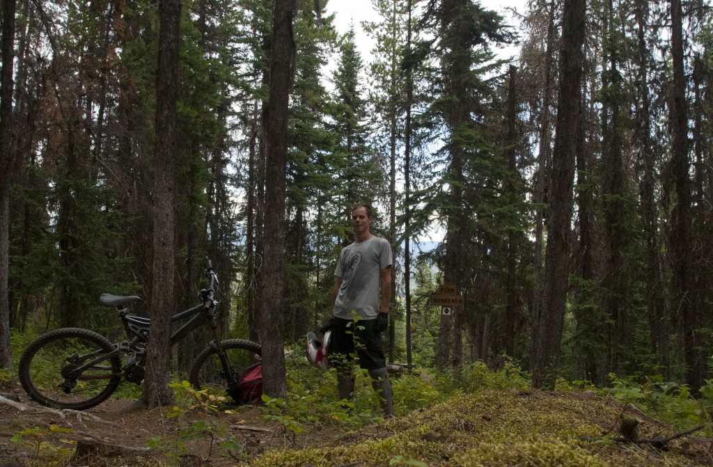 Mountain biking the Bluff in Smithers, BC