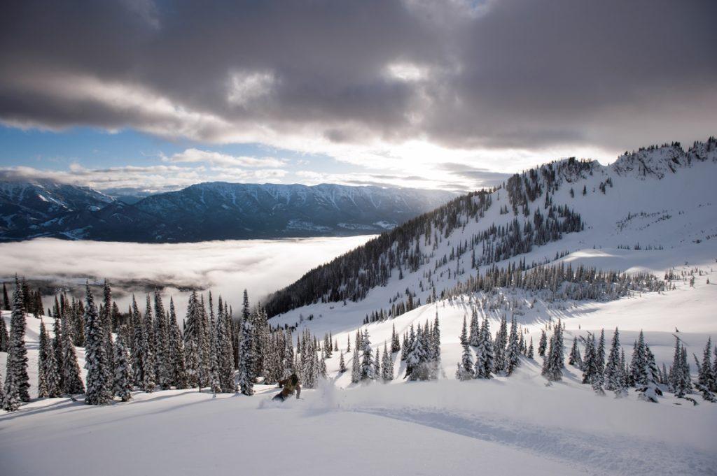 Perfect powder at Fernie Alpine Resort.