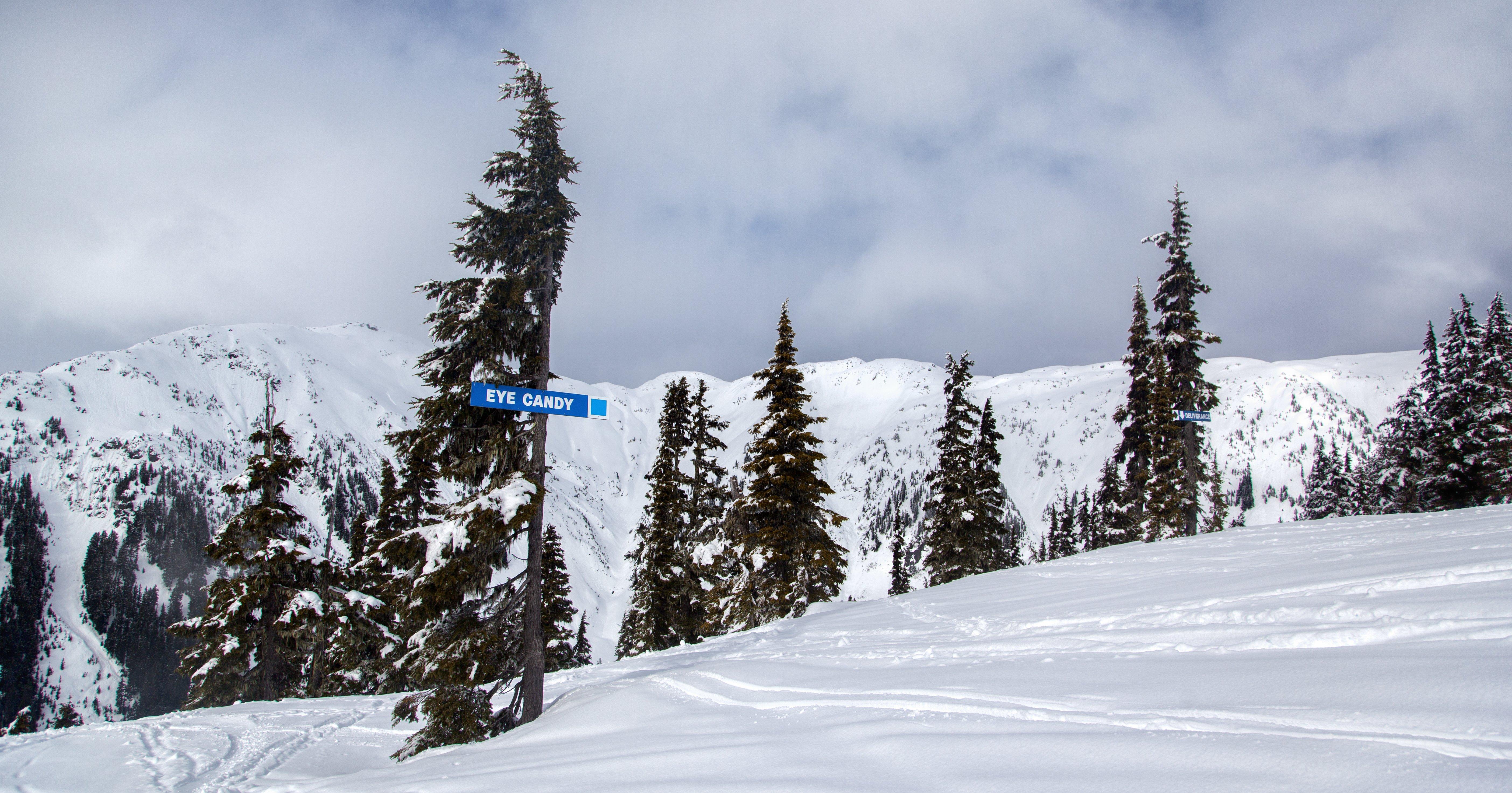 Eye Candy ski run at Shames Mountain in Terrace, BC