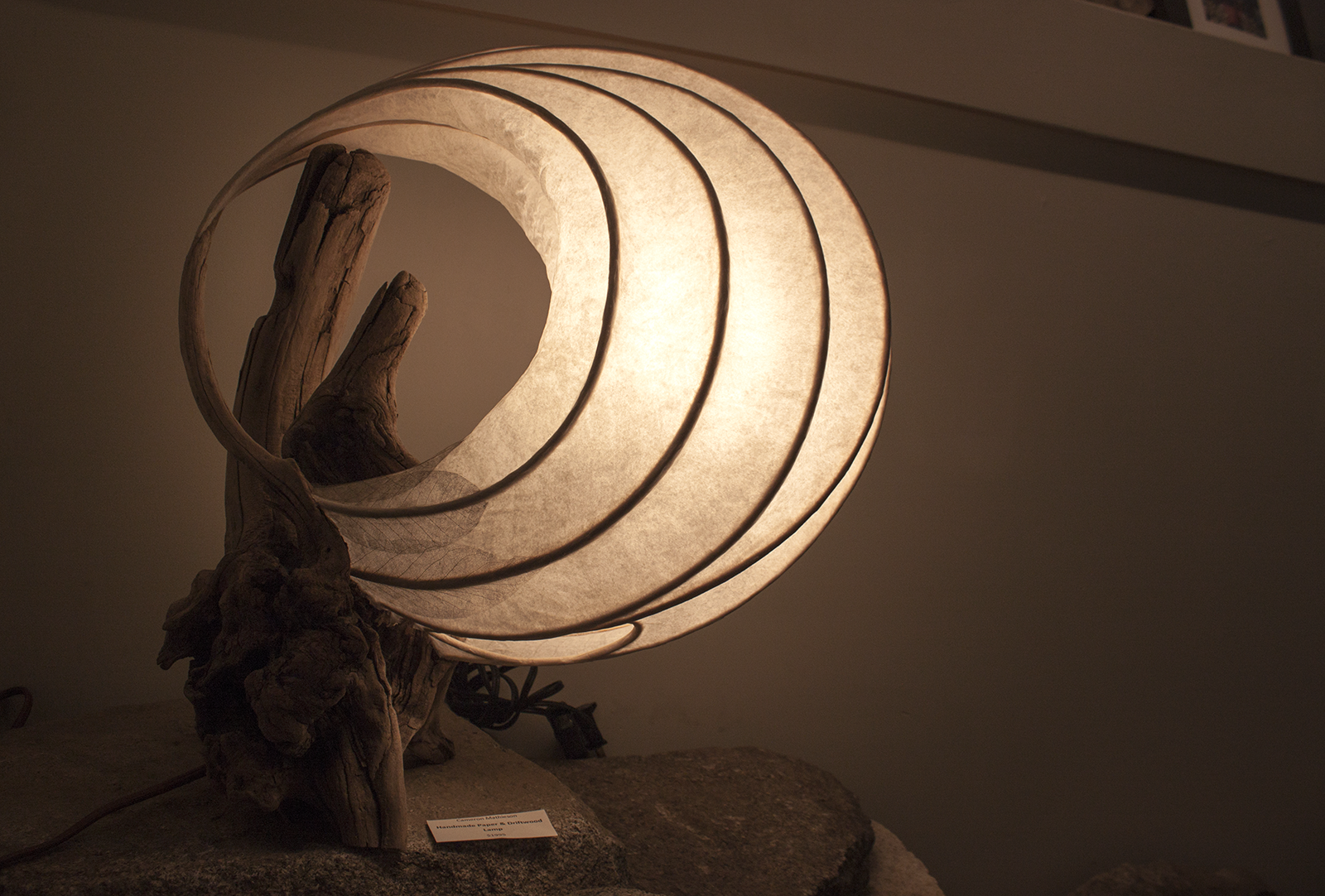 Custom driftwood table lamp from the Craft Connection in Nelson.