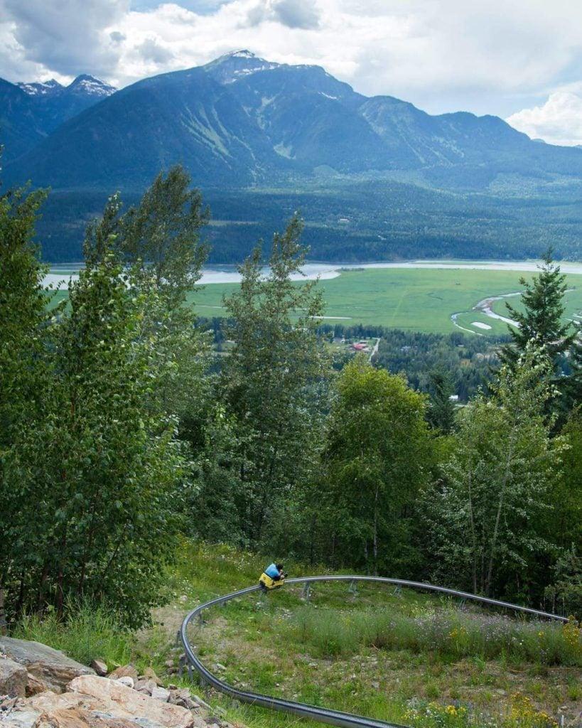 Revelstoke Mountain Resort Pipe Mountain Coaster