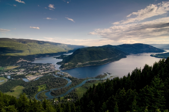 The view to Shuswap Lake from the Sicamous Lookout.